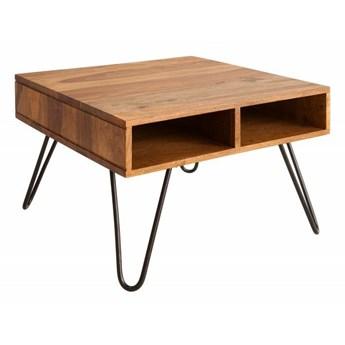 INVICTA stolik kawowy SCORPION 60cm  - sheesham, lite drewno, metal