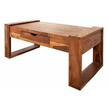Drewniany stolik kawowy z szufladą - Branos