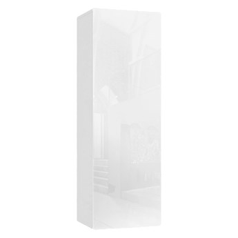 Biała szafka słupek wiszący 120 cm - Nevika 7X