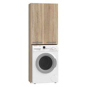 Minimalistyczna szafka nad pralkę dąb sonoma - Sevika