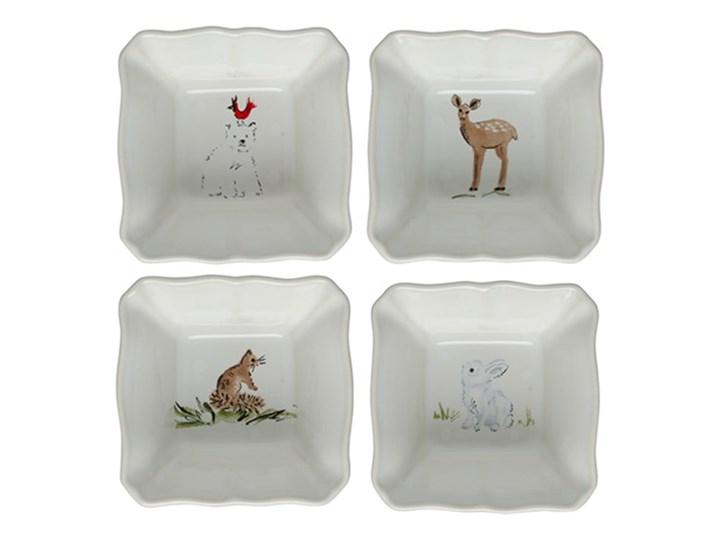 Zestaw 4 świątecznych misek do zapiekania z kamionki Casafina Deer Friends, 10x10 cm Kategoria Naczynia do zapiekania