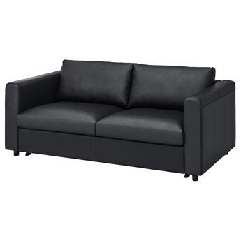 IKEA VIMLE Sofa 2-osobowa rozkładana, Grann/Bomstad czarny, Wysokość łóżka: 53 cm
