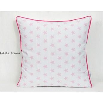 Poszewka dekoracyjna - Różowe gwiazdki