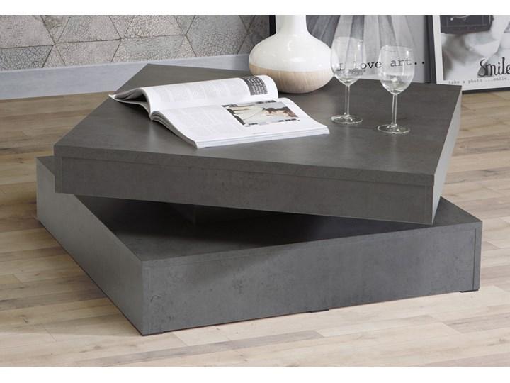SELSEY Ława obrotowa CFTT 78x78 cm ciemnoszary beton Funkcje Z półkami Płyta meblowa Kategoria Stoliki i ławy