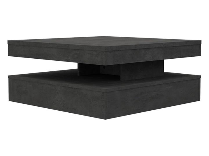 SELSEY Ława obrotowa CFTT 78x78 cm ciemnoszary beton Płyta meblowa Kształt blatu Kwadratowe