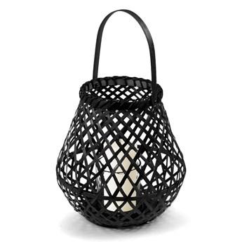 Czarny lampion bambusowy Compactor Bamboo Lantern, ⌀ 25 cm