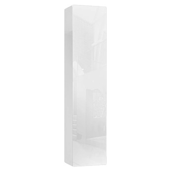 Biała szafka ścienna słupek wiszący 180 cm - Nevika 9X