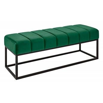 Ciemnozielona tapicerowana ławka - Linus