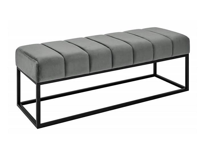 Szara pikowana ławka - Linus Pomieszczenie Sypialnia Kategoria Ławki do salonu