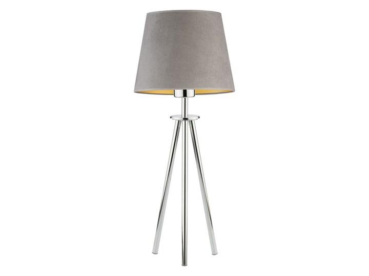 LAMPA NA STOLIK KANIS STOŻEK WELUR GOLDEN Lampa z abażurem Chrom Stal Tkanina Wysokość 50 cm Styl Nowoczesny Kategoria Lampy stołowe