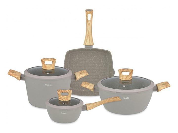 7elementowy zestaw naczyń kuchennych HYGGE Aluminium Kategoria Zestawy garnków i patelni Zestaw mieszany Kolor Szary