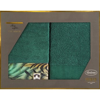 Komplet ręczników 2x50x90 zielone