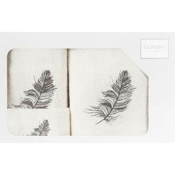 Komplet ręczników 30x50 kremowe
