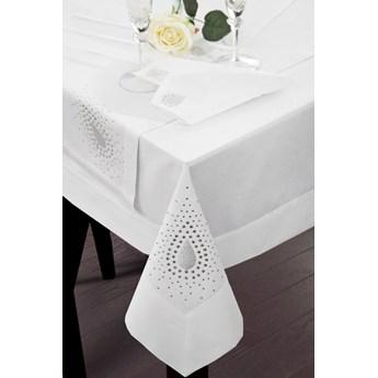 Obrus na stół biały 85X85