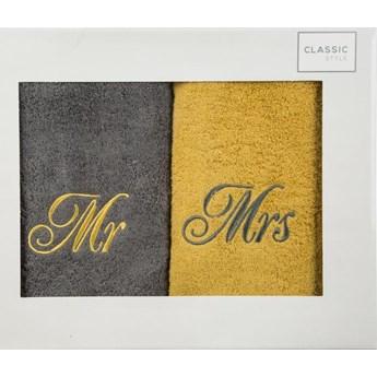 Komplet ręczników pan pani 2x70x140