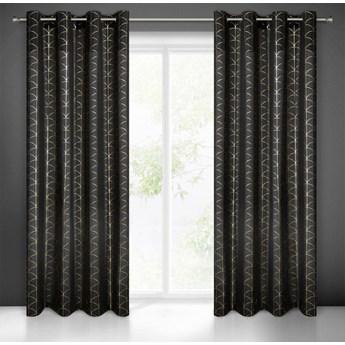 Zasłona gotowa czarna 140X250