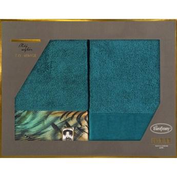 Komplet ręczników 2x50x90 turkusowe