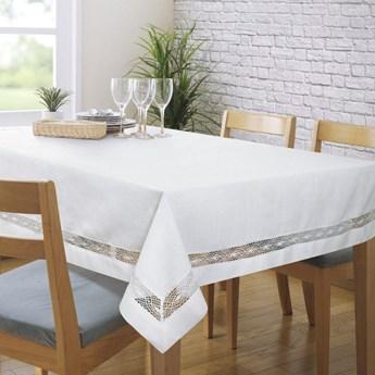 Obrus na stół biały 140X180