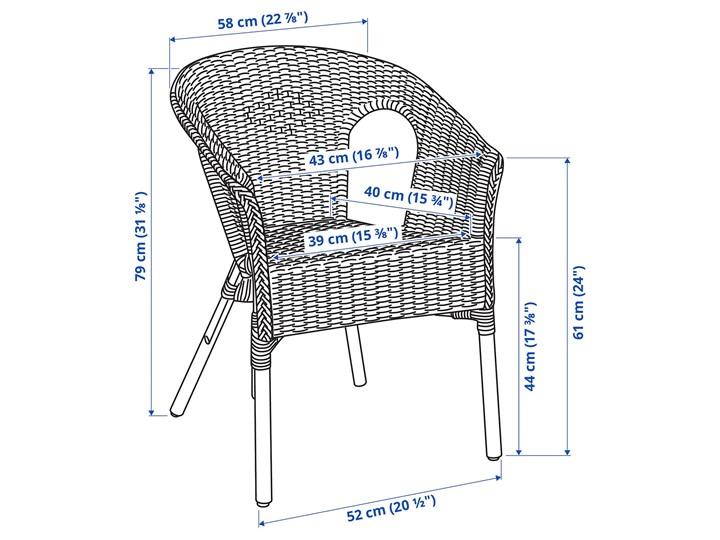 IKEA AGEN Krzesło, rattan/bambus, Szerokość: 58 cm Metal Tworzywo sztuczne Kategoria Krzesła ogrodowe Drewno Styl Nowoczesny