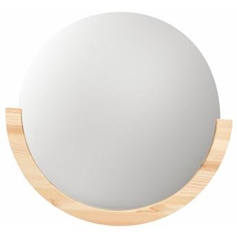 Lustro Mira 55x53 cm drewniane