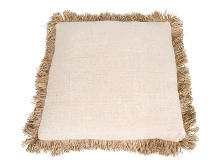 Poduszka dekoracyjna 60x60 z frędzlami Saint Tropez kolor biały BAZAR BIZAR