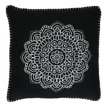 Duża czarna poduszka dekoracyjna Hammam 45x45 z bawełny POMAX