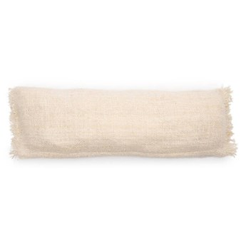 Duża kremowa poduszka dekoracyjna S'il 35x100 z bawełny BAZAR BIZAR