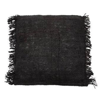 Duża czarna poduszka dekoracyjna 60x60 S'il z bawełny BAZAR BIZAR