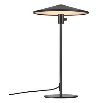 Czarna nowoczesna lampa stołowa Balance z metalu NORDLUX