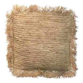 Naturalna poduszka dekoracyjna 40x40 z rafii Square BAZAR BIZAR