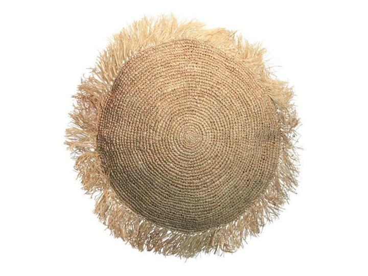 Duża naturalna okrągła poduszka dekoracyjna z rafii Round 60 BAZAR BIZAR Kwadratowe Okrągłe Prostokątne Pomieszczenie Sypialnia