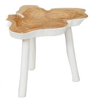 Stolik kawowy z plastra drewna Organic z drewna tekowego BAZAR BIZAR