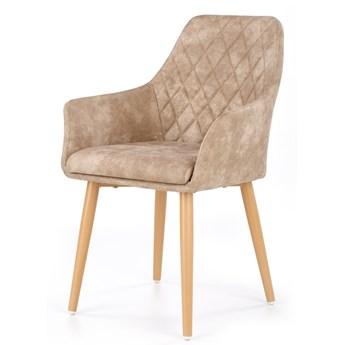 SELSEY Krzesło tapicerowane Moita ecoskóra beżowe