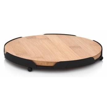 Deska do serwowania okrągła DUKA TAPAS 18 cm brązowa bambus