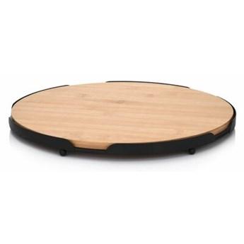 Deska do serwowania okrągła DUKA TAPAS 28 cm brązowa bambus