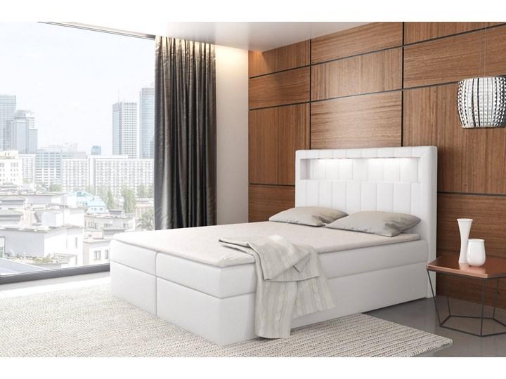 Łóżko kontynentalne 160x200 ASPEN / z pojemnikiem Tkanina Kategoria Łóżka do sypialni Kolor Szary