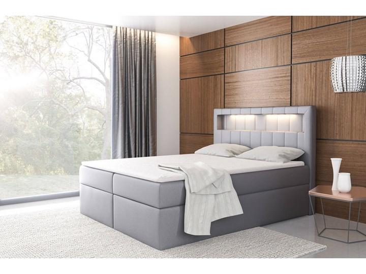 Łóżko kontynentalne 180x200 ASPEN / z pojemnikiem Tkanina Kategoria Łóżka do sypialni Kolor Szary