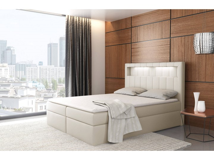 Łóżko kontynentalne 200x200 ASPEN / z pojemnikiem Kategoria Łóżka do sypialni Tkanina Kolor Szary