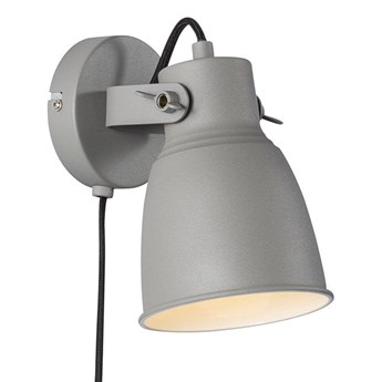 Szary kinkiet lampa ścienna Adrian NORDLUX