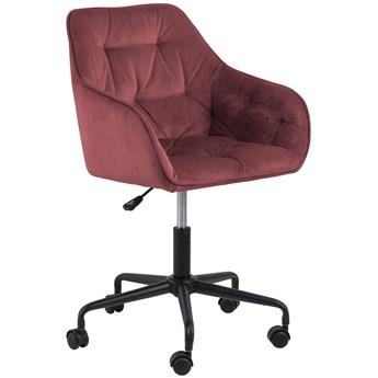 Krzesło biurowe Brooke 59x89 cm koralowe