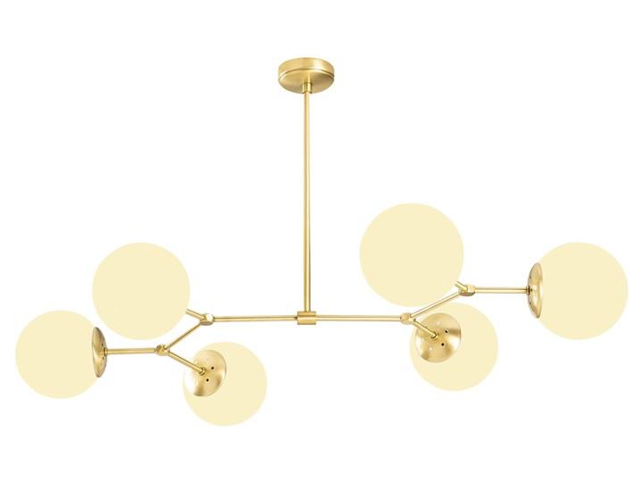 SELSEY Żyrandol Beid x6 złoty Lampa z kloszem Szkło Pomieszczenie Jadalnia Metal Funkcje Brak dodatkowych funkcji