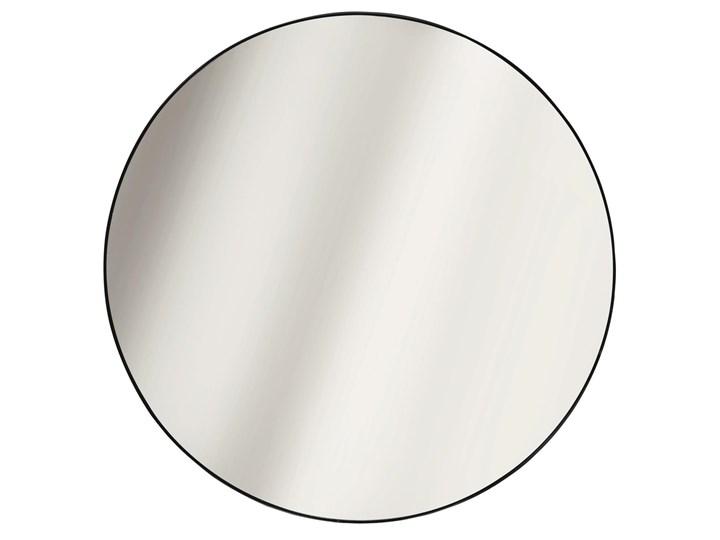 SELSEY Lustro ścienne okrągłe Shaunel średnica 55 cm czarne Kolor Czarny Pomieszczenie Salon