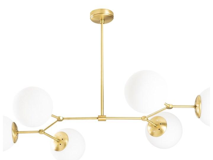 SELSEY Żyrandol Beid x6 złoty Metal Lampa z kloszem Szkło Styl Klasyczny Pomieszczenie Jadalnia