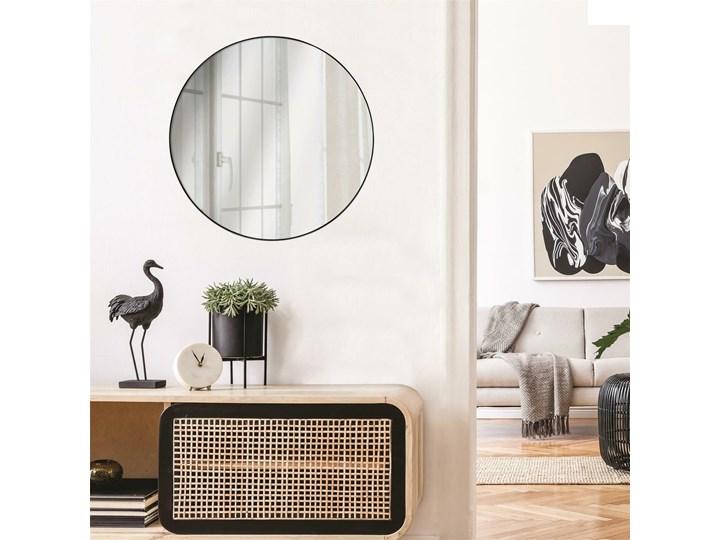 SELSEY Lustro ścienne okrągłe Shaunel średnica 55 cm czarne Pomieszczenie Sypialnia Kolor Czarny