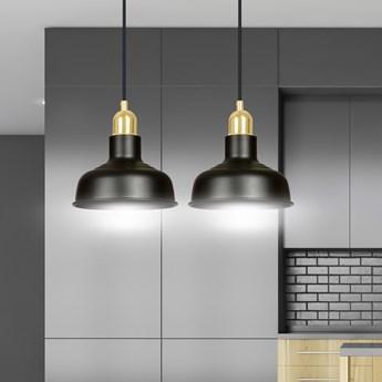 IBOR 2 BLACK 1042/2 nowoczesna lampa sufitowa czarna złote elementy
