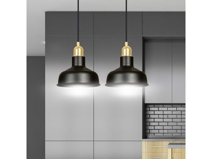 IBOR 2 BLACK 1042/2 nowoczesna lampa sufitowa czarna złote elementy Lampa z kloszem Styl Klasyczny Metal Styl Nowoczesny