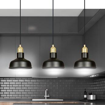 IBOR 3 BLACK 1042/3 nowoczesna lampa sufitowa czarna złote elementy