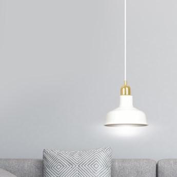 IBOR 1 WHITE 1043/1 nowoczesna lampa sufitowa biała złote elementy