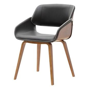 SELSEY Krzesło tapicerowane Nugat orzech-czarny
