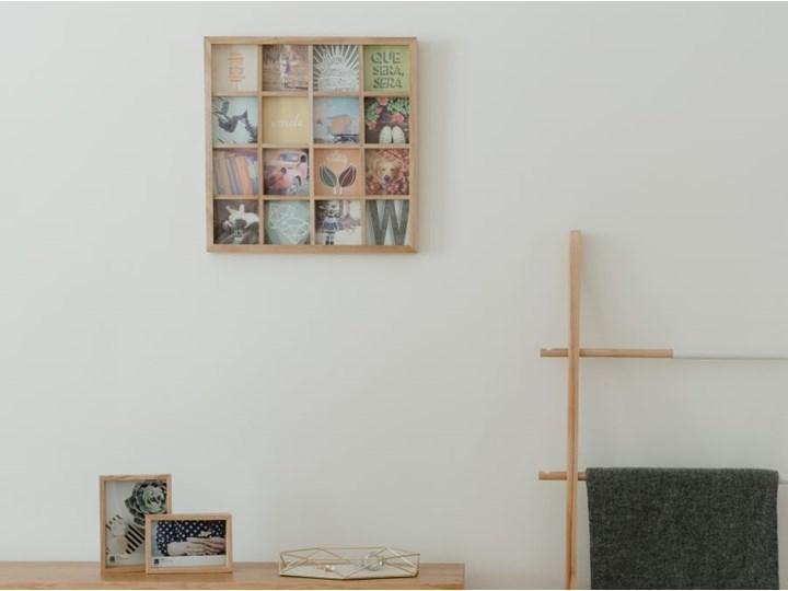 Ramka Gridart 43x43 cm drewniana Kategoria Ramy i ramki na zdjęcia Multiramka Drewno Pomieszczenie Salon